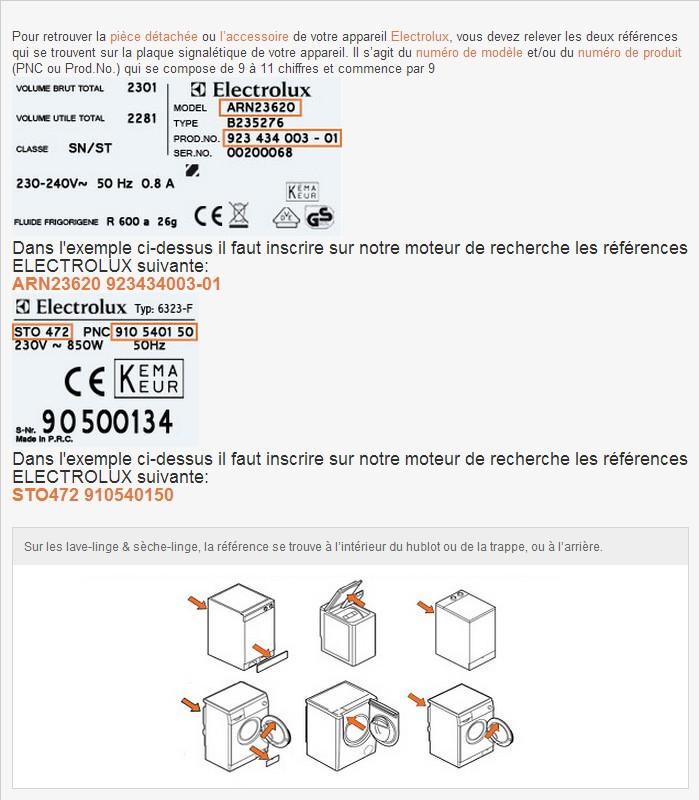 référence lave-linge électrolux