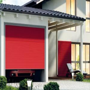 volet garage rouge